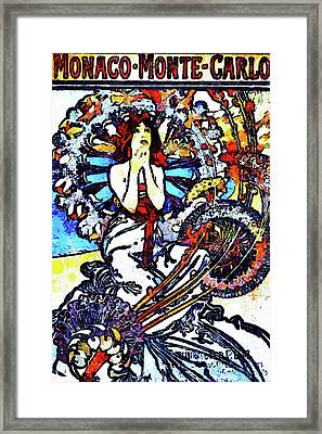 Girl Of Monaco Van Gogh Style Expressionism Framed Print by Georgiana Romanovna