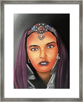 Girl Of Morocco Framed Print by Portland Art Creations