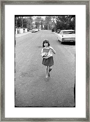Girl On 13th Street, 1971 Framed Print
