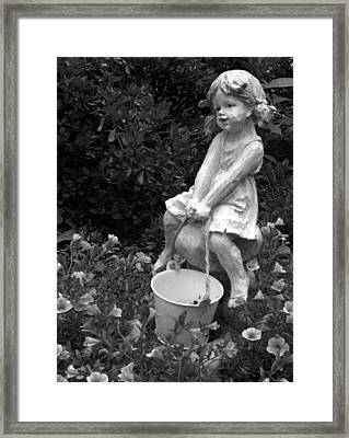 Framed Print featuring the photograph Girl On A Mushroom by Sandi OReilly