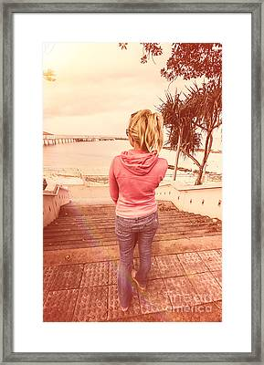 Girl On Redcliffe Travel Holiday Framed Print by Jorgo Photography - Wall Art Gallery