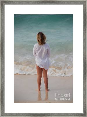 Girl On The Beach Framed Print by Jan Daniels