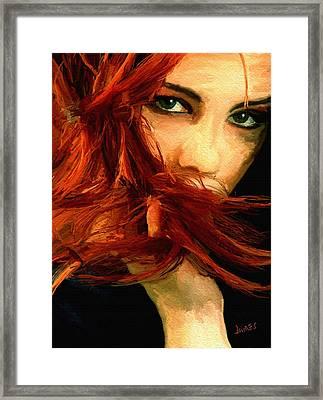 Girl Portrait 08 Framed Print by James Shepherd