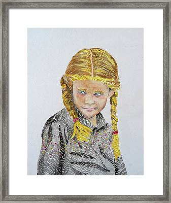Girl Portrait Framed Print by Gary Thomas
