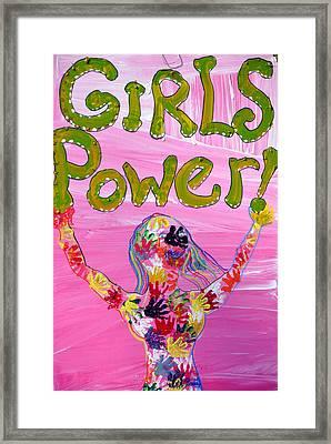 Girl Power Sign Framed Print by Rose  Hill