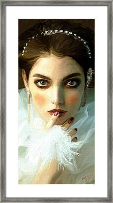 Framed Print featuring the painting Girl Ready To Party by James Shepherd