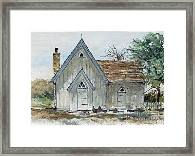 Girl Scout Little House Framed Print by Monte Toon