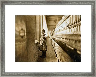 Girl Spinner 11 Years Old Rhodes Manufacturing Co Lincolnton 1908 Framed Print