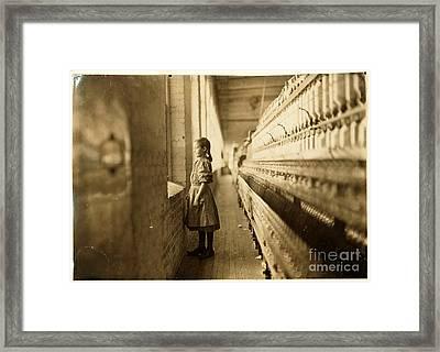 Girl Spinner Framed Print