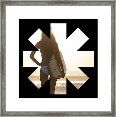 Girl Surfer Framed Print by Rhcp