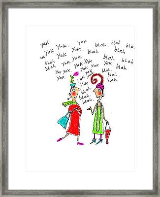 Girl Talk Framed Print by Karon Melillo DeVega