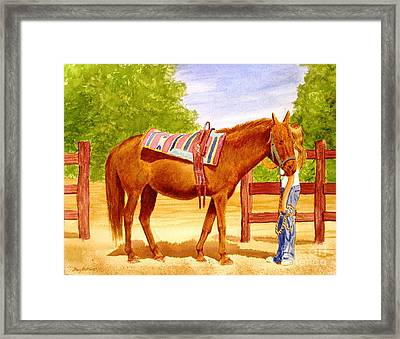 Girl Talk Framed Print by Stacy C Bottoms