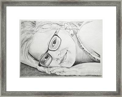 Girl Framed Print by Tine Nordbred