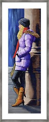 Girl Waiting Framed Print