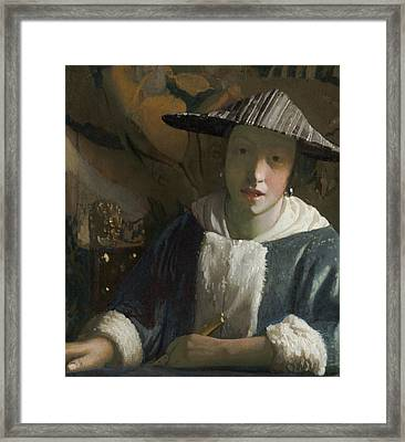 Girl With A Flute Framed Print
