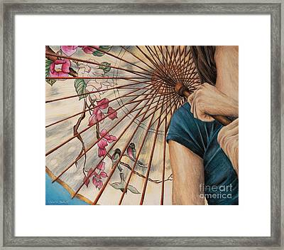 Girl With A Parasol Framed Print