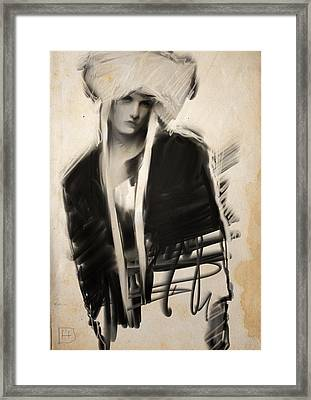 Girl With Bonnet Framed Print