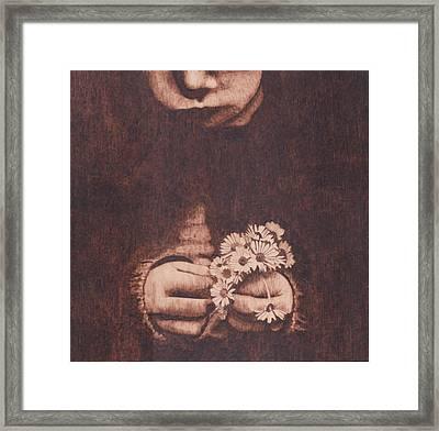 Girl With Daisies Framed Print by Marsha Wilson