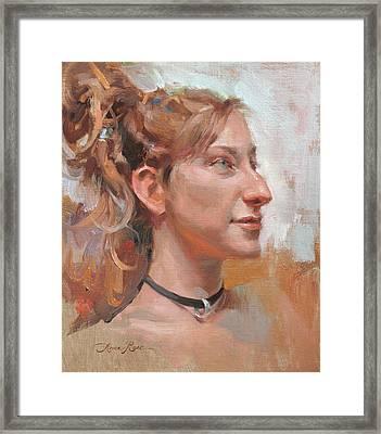 Girl With Dreadlocks Framed Print