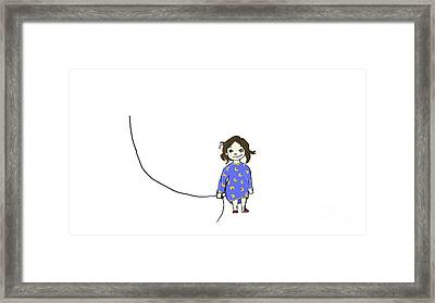 Girl With Dream Framed Print by Sainbileg Dashzeveg