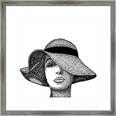 Girl With Fancy Hat Framed Print