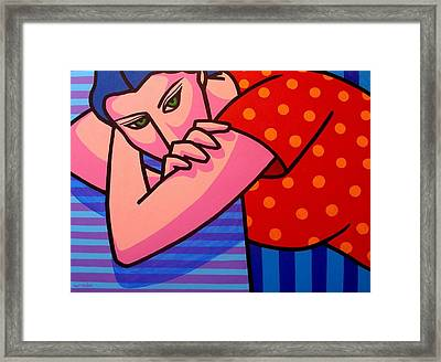 Girl With Green Eyes Framed Print by John  Nolan