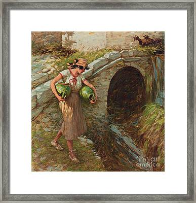 Girl With Jars Framed Print by MotionAge Designs