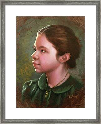 Girl With Locket Framed Print by Timothy Jones