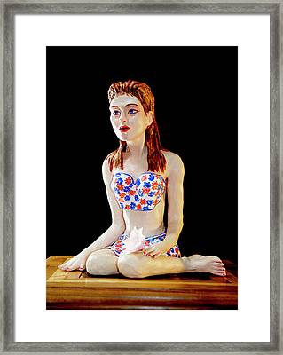 Girl With Lotus 1 Framed Print by Yelena Rubin