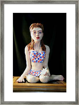 Girl With Lotus 2 Framed Print by Yelena Rubin