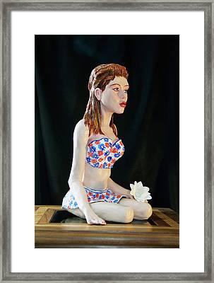 Girl With Lotus 3 Framed Print by Yelena Rubin