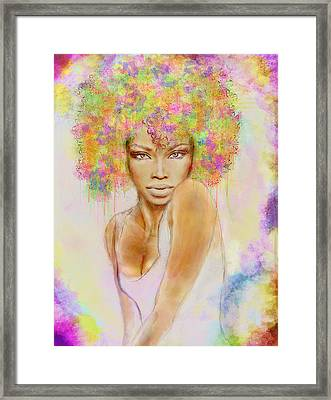 Girl With New Hair Style Framed Print by Lilia D