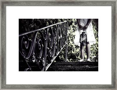 Girl With Oil Lamp Framed Print by Joana Kruse