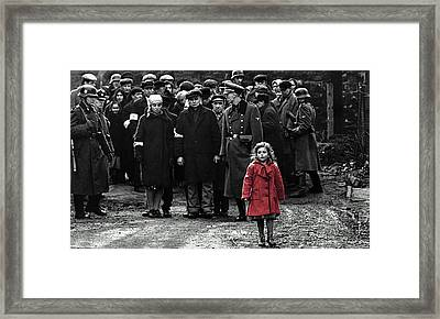 Girl With Red Coat Publicity Photo Schindlers List 1993 Framed Print