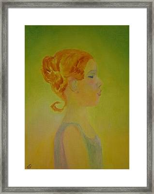 The Girl With The Curl Framed Print