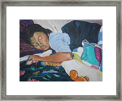 Girl With The Pearl Earring Framed Print by Kevin Callahan