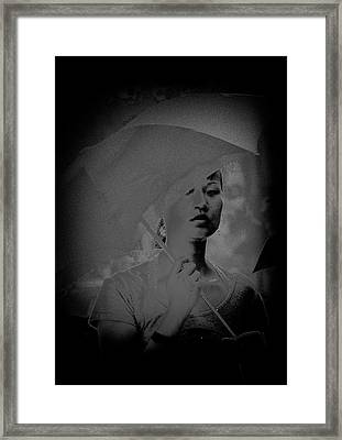 Girl With Umbrella Framed Print by Patrick Kain