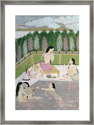 Girls Bathing Framed Print