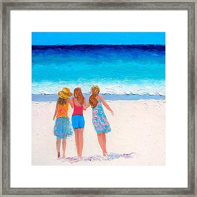 Girls Day Out Framed Print by Jan Matson