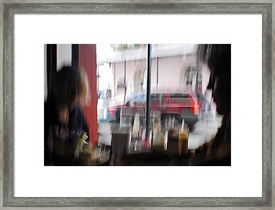 Girls In The Window Framed Print by Wayne Archer