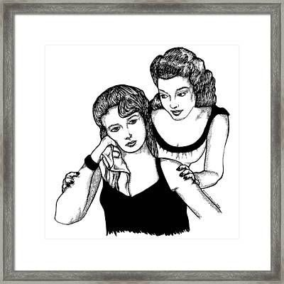 Girls Framed Print by Karl Addison