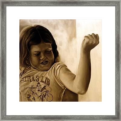 Girl's Lib Framed Print by Anni Adkins