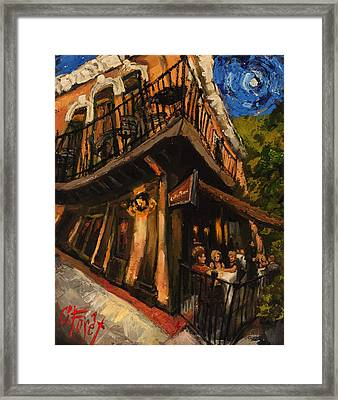 Girls Night At Cotton Row Framed Print by Carole Foret