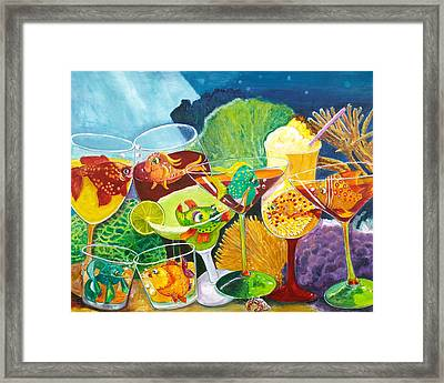 Girls Night Out At The Coral Rock Cafe Framed Print by Linda Kegley