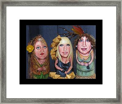 Girls Night Out Framed Print by Cathi Doherty