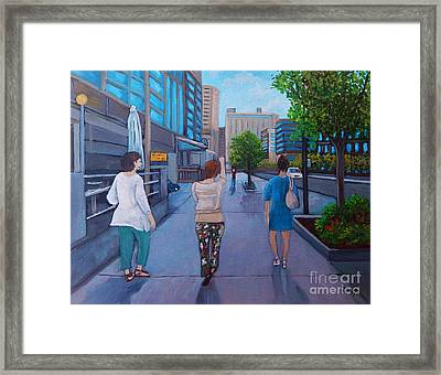 Girls Night Out Framed Print by Reb Frost