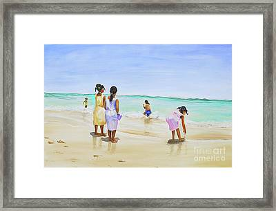 Girls On The Beach Framed Print