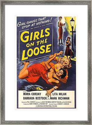 Girls On The Loose Framed Print
