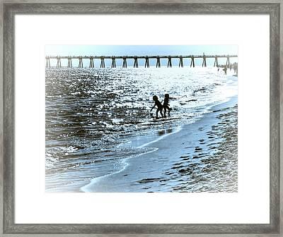 Girls Play Framed Print by Kathy Bassett