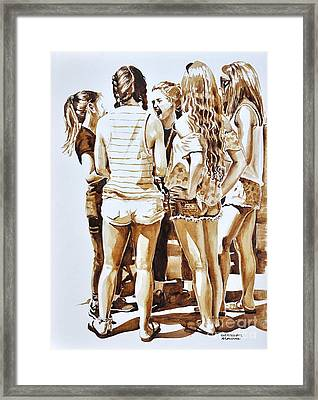 Girls Summer Fun Framed Print